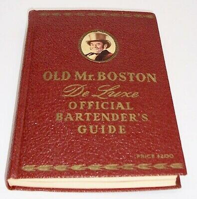 1940 Old Mr. Boston De Luxe Official Bartenders Guide 4th Printing!! Vintage
