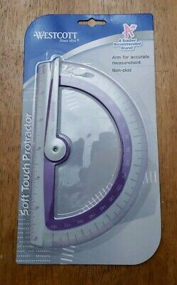 Wescott Soft Touch Protractor - Purple NIP