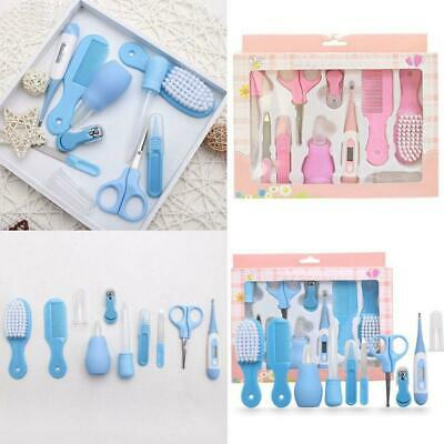 10pcs Baby Newborn Health Care Set Nail Hair Brush Thermometer Kids Grooming