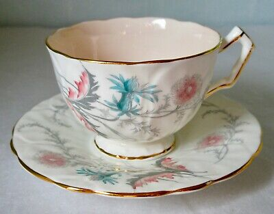 Aynsley Art Deco WAYSIDE Bone China Cup & Saucer 1930s England