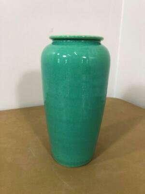 """Vintage Arts Crafts Mission Style Green American California Pottery 7 1/2"""" Vase"""