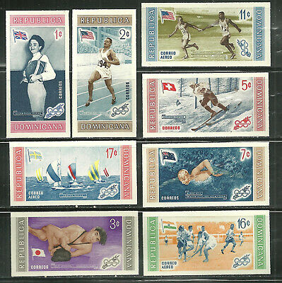 Dominican Republic 501-05, C106-08 Imp Mnh 56 Olympic Winners And Flags