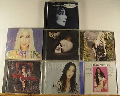 Lot Of 7 CHER CDS - Best, Believe, Living, Heart Stone, Greatest, Love Hurts