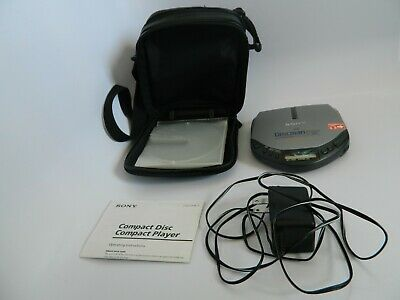 Sony Diskman ESP Model D-E301 wOperating Instructions, Power Cord and Sony Case