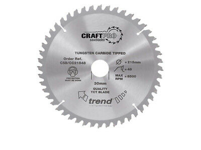 21560 Craft Lame de scie 215 mm x 60T x 30 mm TREND CSB