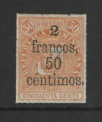 Dominican Republic SC# 84 Mint Hinged / Hinge Rem / Tiny Pin Size Thin - S7544