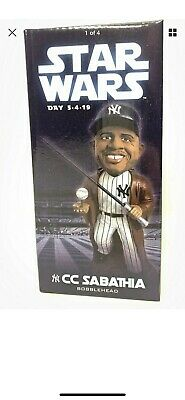 2019 New York Yankees CC Sabathia Star Wars Bobblehead SGA Jedi NY Stadium NEW