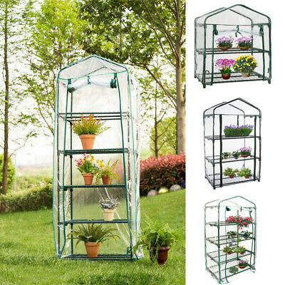 New 5 Shelves Greenhouse PVC Plastic Cover Outdoor Garden Grow Bag Green House
