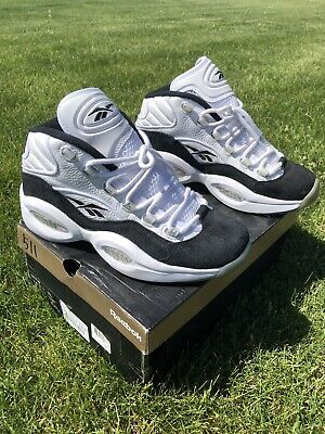 brand new 2a255 db261 Reebok Question Mid HOF Hall Of Fame Men s Basketball Shoes SZ 8.5 Black.