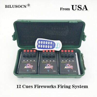 Profession 12 Cue Wireless Fireworks Firing system  Remote control+12pcs gift
