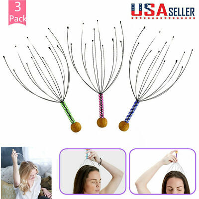 3 PCS Massager Head Scratcher Scalp Octopus Therapeutic Head for Deep Relaxation