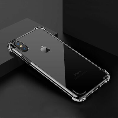 Transparent TPU SHOCKPROOF Bumper Case For iPhone XR X XS Max 8 7 6S 6 Plus SE 5