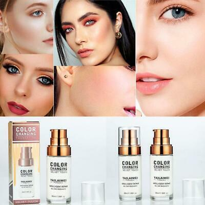TML Colour Changing Foundation Makeup Base Nude Face Liquid Cover