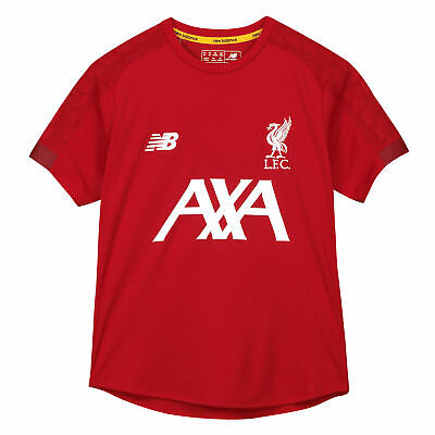 New Balance Official Kids Liverpool FC On-Pitch Football Jersey Shirt Top Red