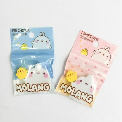 2Pcs/set Cute Rabbit Duck Eraser Rubber Erasers Student Prizes Gifts Stationery