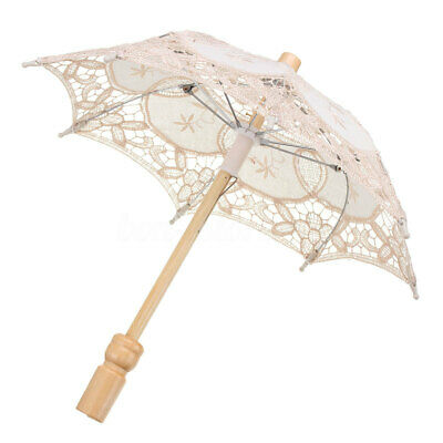 Lace Embroidered Umbrella Elegance Parasol For Party Bridal Wedding