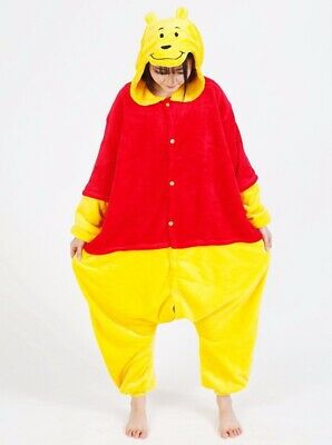 Winnie The Pooh Unisex All-in-one Sleepwear - Perfect for fancy dress Adult MED