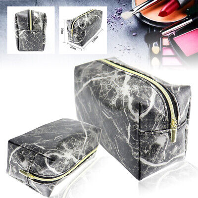 Marble Purse Box Travel Makeup Cosmetic Storage Bag Toiletry Pencil Case Pouch