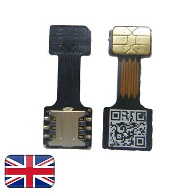 Black Dual Sim card Adapter Micro SD - Nano SIM for Huawei, Xiaomi, Samsung,