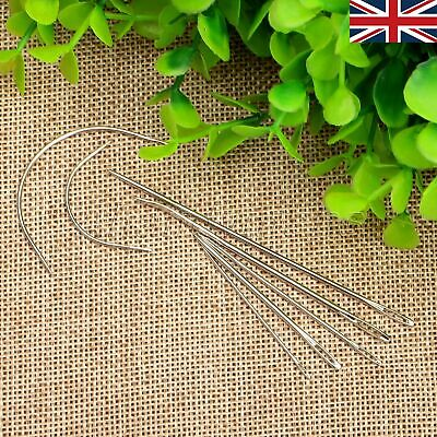 UK STOCK 7Pc Repair Upholstery Sewing Needles Carpet Leather Curved Canvas Craft