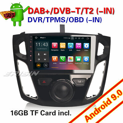 "9"" Android 9.0 Autoradio DAB+ TPMS WiFi+4G USB OBD CAM Bluetooth Ford Focus Navi"
