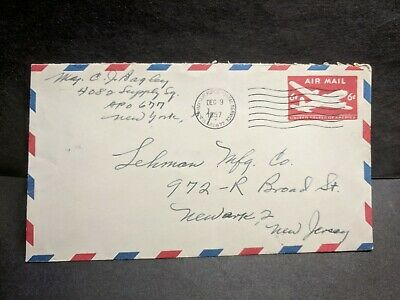 APO 677 GOOSE BAY, LABRADOR, CANADA 1957 Army Air Force Cover 4082 Supply Sq