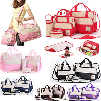 Baby Nappy Changing Bag 5Pcs/Set Mummy Maternity Handbag Hospital Diaper Travel