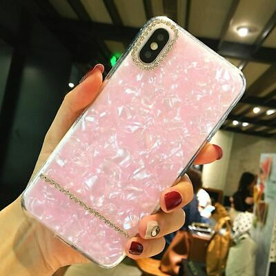 Luxe Bling Strass Diamant Antichoc Souple iPhone Coque Pour iPhone 6 7 8 X Xs Xr