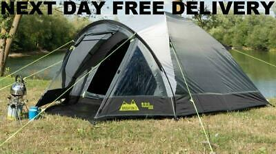 New 2019 Kampa Brighton 3 Person Man Family Festival lightweight Dome Tent Large