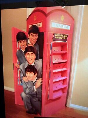 The Beatles Collection Phonebooth Display, Never Assembled Trading Card Display