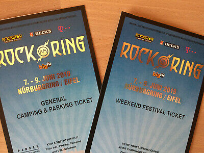 1x Rock am Ring 2019 Weekend Festival + 1x General Camping & Parking Ticket