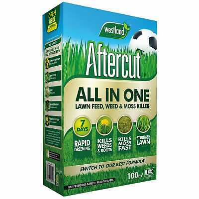 Aftercut todo en una fuente de césped, Weed & Moss Killer 100sq. m