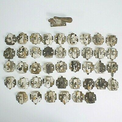 42 Vtg Silentite Window Slide Lock Casement Sash Sliding Pin Latch vtg lot