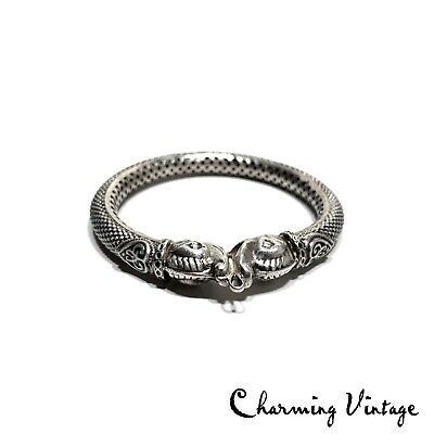 Antique Chinese Sterling Silver Fish Design Large Ring Pendant