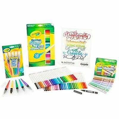 Crayoligraphy Art Sets Calligraphy Kit, Hand Lettering For Beginners, Gift, 60+