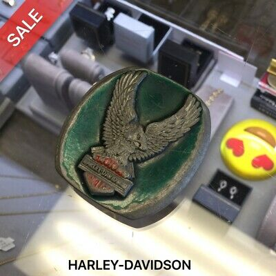 Vintage Harley Davidson Indiana Metal Craft Belt Buckle *Free Softtail Fast Ship