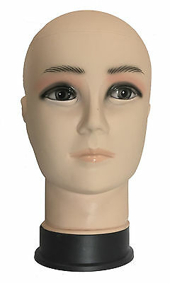 Male Mannequin Head Display Stand Shop Wigs, Glasses, Scarves, Hats Plastic PVC