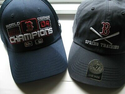 1854a365b9aed Boston Red Sox 2004 World Series New Era Locker Room Hat + Spring Training  Hat
