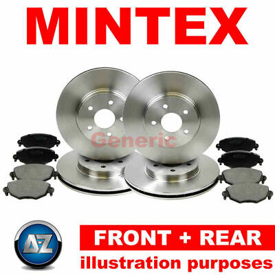 e68 For Fiat 91-92 Front Rear Mintex Brake Discs Pads