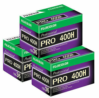 3 x Fuji Fujifilm Pro 400 H Film Pack 135 (36 Exposures)