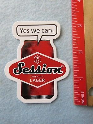 144ad40c53821 Beer STICKER ~ FULL SAIL Brewing Session Premium Lager ~ Hood River