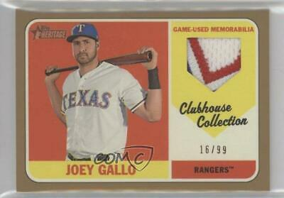 2018 Topps Heritage Clubhouse Collection Relics Gold #CCR-JGA Joey Gallo Card