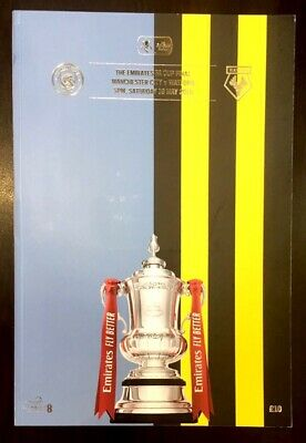 Manchester City Man City V Watford FA Cup Final Programme 2019 May 18/05/19