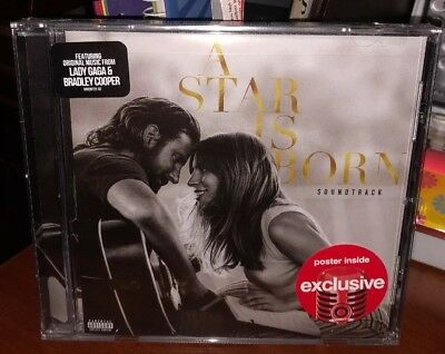 Lady Gaga Bradley Cooper A Star Is Born Target Exclusive CD avec Poster Pop Neuf