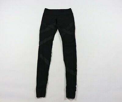 cf22059cbf2f9b Lululemon Womens Size 6 Wunder Under Cire Wrapped Stirrup Leggings Pants  Black