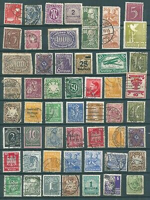 Old  Collection Of Germany Stamps Inc Mint, Overprint & Perfins  Ref G1505