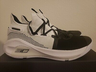 1d80dbe0864 Under Armour Curry 6 Stephen 20612101 White Black Basketball Shoes size 9.5