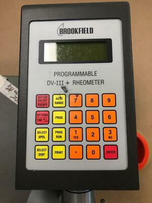 Brookfield DV-III LV Programmable Rheometer Viscometer with spindle