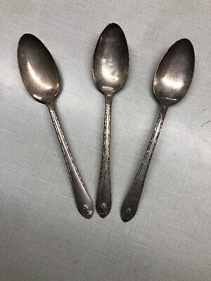Exquisite by Wm Rogers & Son1940 Silverplate Serving Spoon 3 Piece Set