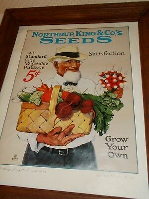 Northrup, King & Co's.seeds Calender Limited Edition Print Grow Your Own  1984